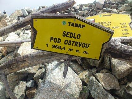 FOTKA - Vysoké Tatry - sedlo Pod ostrvou,cedule