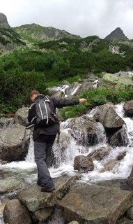 FOTKA - Vysoké Tatry - s pomocí lana