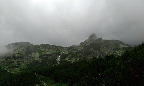 FOTKA - Vysoké Tatry - mlha a pramen
