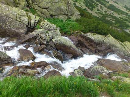 FOTKA - Vysoké Tatry - vodopád shora