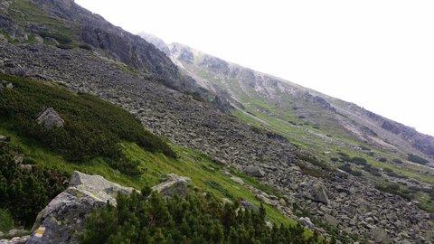 FOTKA - Vysoké Tatry - svah z kamení