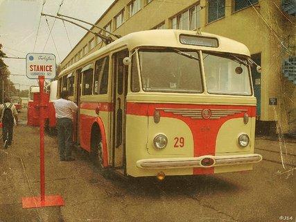 FOTKA - retro   - MHD  Ostrava