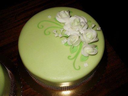 FOTKA - Svatební zelený dort