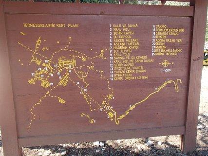 FOTKA - Turecko-mapka kamenného mesta Termessos