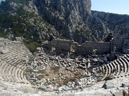 FOTKA - Turecko -Termessos - trosky divadla po zemetrasen�