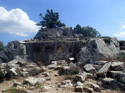 FOTKA - Turecko -Termessos - kamenné mesto postavené vo výške 1500 m