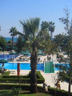 FOTKA - Turecko-pohľad cez palmy na bazén