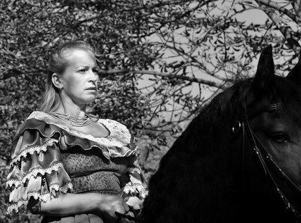 FOTKA - Dáma na koni