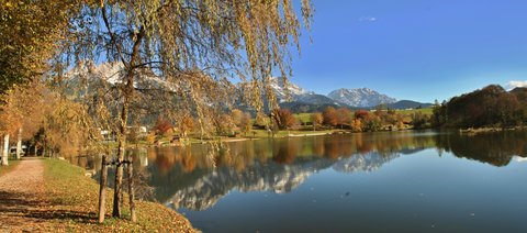 FOTKA - Vyhlídka Kühbühel a Ritzensee - Podzimní jezero