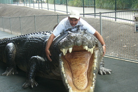 FOTKA - Jízda na krokodýlovi