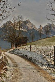 FOTKA - Začátek zimy na Ritzensee - Cesta