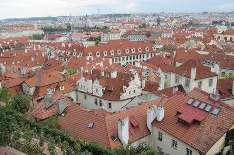 FOTKA - Pohled na Prahu  -  ze zahrad  Pražského hradu