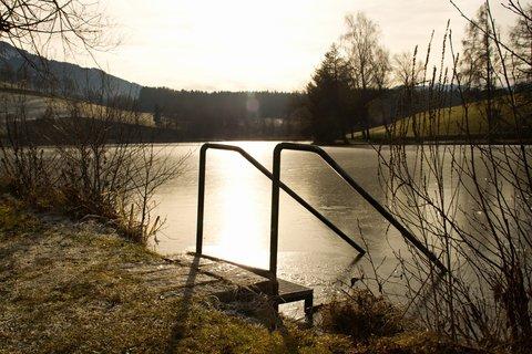 FOTKA - Štědrodenní procházka okolo Ritzensee - Na hrázi