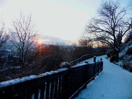 FOTKA - Západ slunce nad pražskou ZOO
