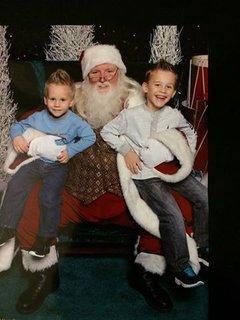 FOTKA - vnoučci a Santa