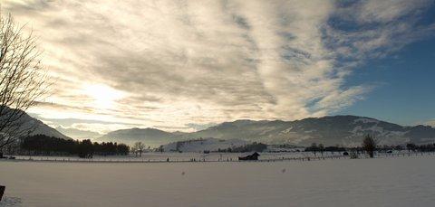 FOTKA - Novoroční prochážka po okolí Saalfeldenu - Údolí směrem k Zell am See
