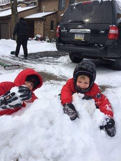 FOTKA - klucí a sníh
