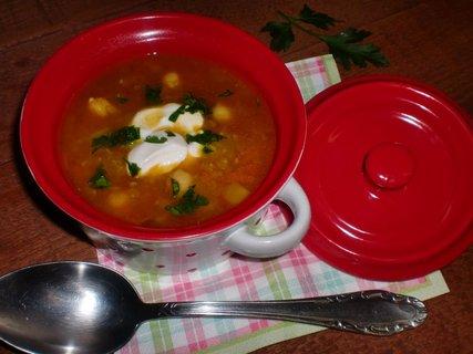 FOTKA - Polévka z červené čočky a cizrny