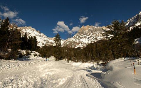 FOTKA - Zimní Triefen - Běžecká stopa