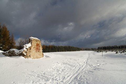 FOTKA - Zaniklá obec Vilejšov v zimě