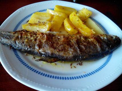 FOTKA - pečený pstruh i brambory