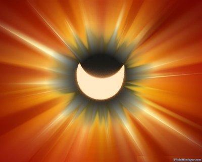 FOTKA - Ještě jednou zatmění Slunce,tentokrát v jiné úpravě