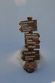 FOTKA - Baumzipfelweg v zimě - Rozcestník pod sněhem