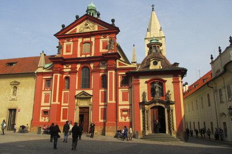 FOTKA - Pražský hrad  Náměstí u sv. Jiří