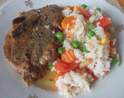 FOTKA - krkovice se zeleninovou rýží