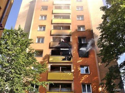 FOTKA - Požár bytu v Karviné
