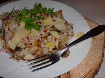 FOTKA - Rýže se žampiony a shiitake