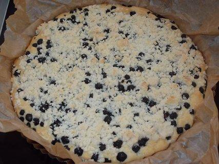 FOTKA - borůvkový koláč z domácích kanadských borůvek