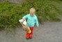 Adélka na procházce