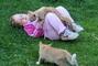 kočkování v trávě