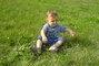 Daneček v trávě