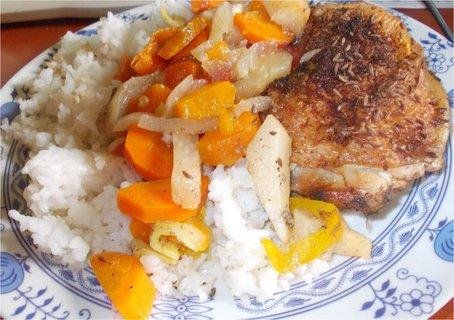 FOTKA - dieta, kuře na zelenině s rýží
