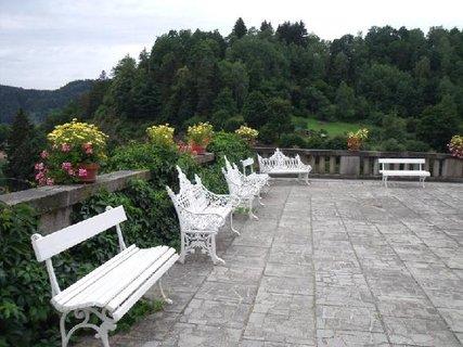 FOTKA - svatební sál, lavičky a květiny