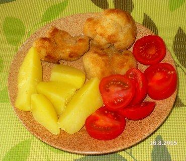 FOTKA - Smažený květák brambory