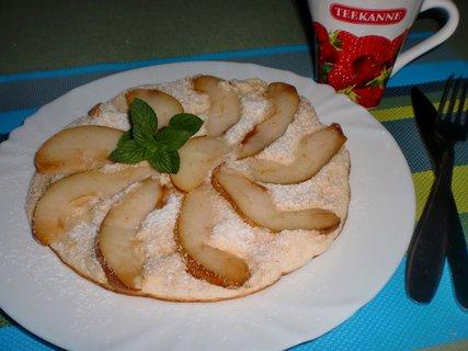 FOTKA - Omeleta z  ovesných vloček s hruškou