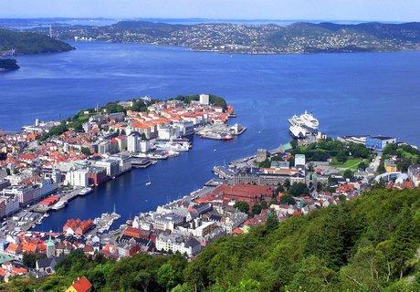 FOTKA - Pohled na norský Bergen