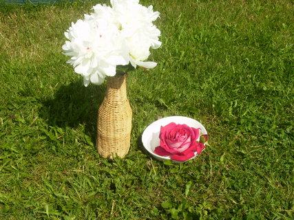 FOTKA - pivoňka  a růže