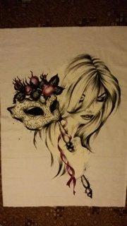 FOTKA - žena s maskou