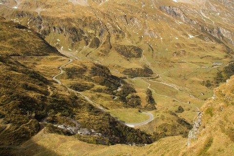 FOTKA - Vysokohorské přehrady nad Kaprunem - Silnice nahoru