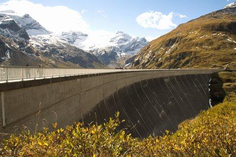 FOTKA - Vysokohorské přehrady nad Kaprunem - Hráz