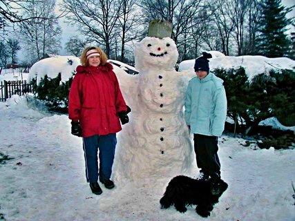 FOTKA - Sněhulák - vzpomínka cca 12 let stará - pro Bětku