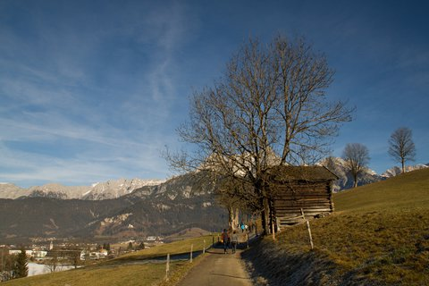 FOTKA - Jaro v prosinci na Ritzensee - Stodola u cesty