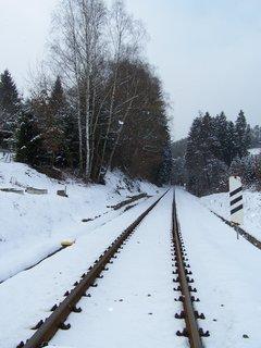 FOTKA - zapadané koleje