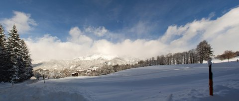 FOTKA - Konečně přišla zima na Ritzensee - Nad jezerem u lesa