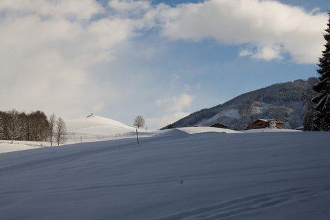 FOTKA - Konečně přišla zima na Ritzensee - Pohled na vyhlídku Kühbühel