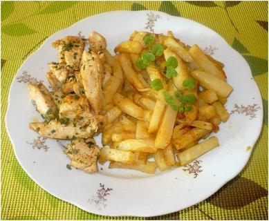 FOTKA - Celerové hranolky s oreganem a kuřecí s medvědím česnekem